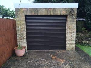 Dark Brown Insulated Electric Garage Door