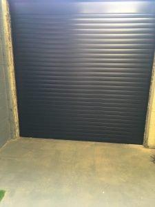 77mm Black Electric Roller Garage Door